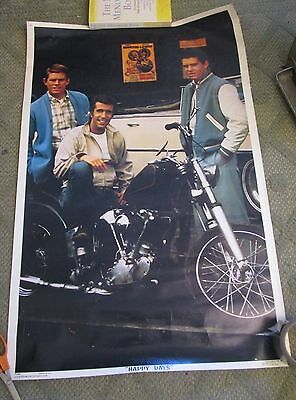 Richie the Fonz and Potsie HAPPY DAYS POSTER 1976 PARAMOUNT PICTURES ORIGINAL