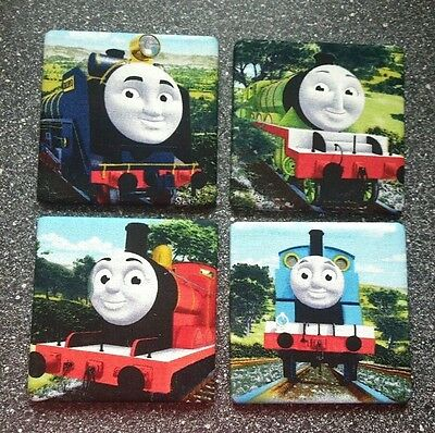 Set of 4 Thomas and Friends wall pictures mural NEW! bedroom decor Xmas gift