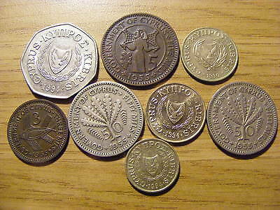 A Collection of 8 Cyprus Coins - Dates 1955 - 1994