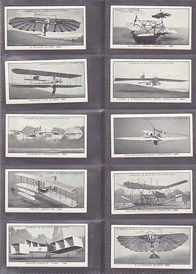 """SET: """"A History of Aviation"""" issued by Lambert & Butler in 1932 25/25"""