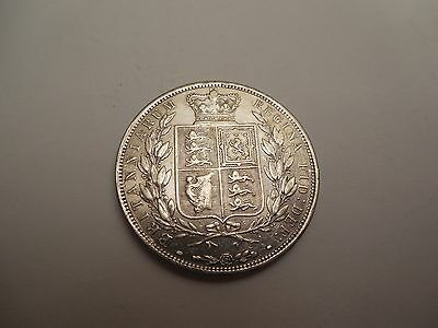 1884 Victoria Half Crown Good Very Fine with Lustre