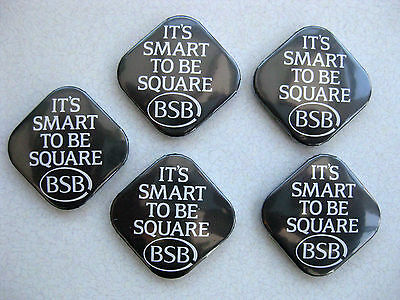 5 BSB It's Smart To Be Square Promo Badges British SKY Satellite Broadcasting TV