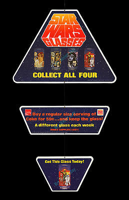 STAR WARS Coca-Cola & BURGER KING 1978 STORE DISPLAY MOVIE POSTER GLASSES MOBILE