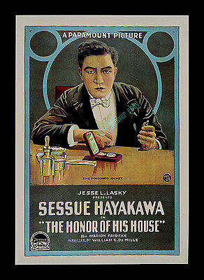 Sessue Hayakawa 1918 ☆ THE HONOR OF HIS HOUSE ☆ STONE LITHO 1-SHEET ☆ ONLY KNOWN