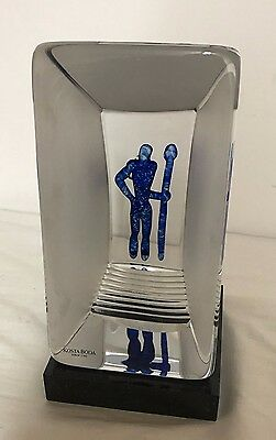 Kosta Boda Viewpoints Reflection Crystal Sculpture by Bertil Vallien, signed