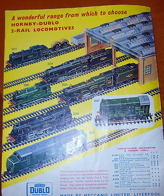 1961 original Hornby DUBLO COLOUR advert 240 x 190 mm