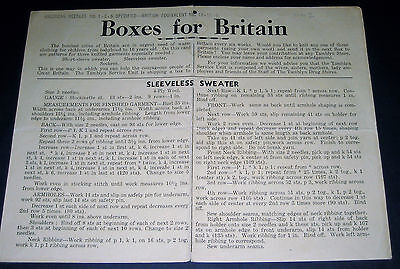 WW2 Home Front BOMBED CITIES OF BRITAIN Knitting Instructions PARCELS from USA