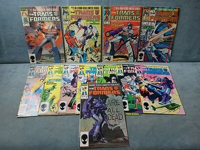Transformers #1-12 (1984) Marvel Comics
