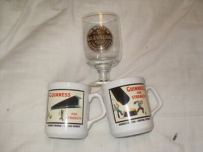 Guinness Mugs And Glass