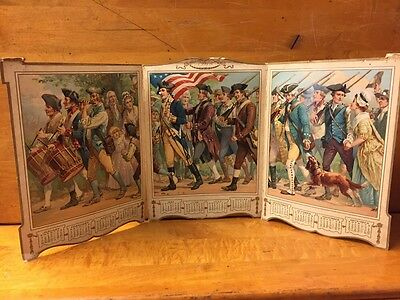 Antique 3 Page Fold Out 1906 The Youths Companion Minutemen Calendar