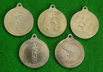 5 Medallions for Olympic Games Commemoration