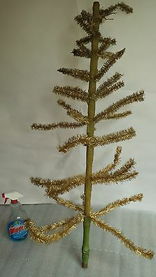 44 inches tall vintage FEATHER TREE  antique Christmas holiday decoration