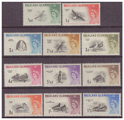 Falkland Is 1960 QEII Birds set to 1/3d MM/MH SG193-203