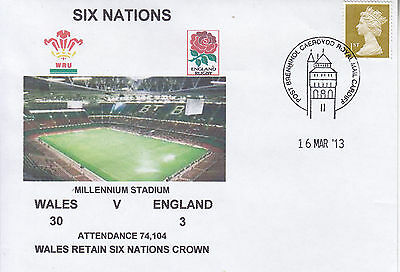 Wales V England 6 Nations Rugby Envelope 16 March 2013