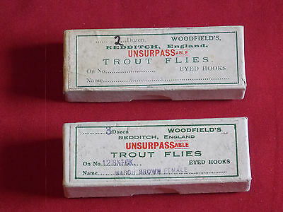 Vintage Boxed , W Woodfield & Sons , Trout Flies.