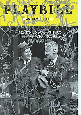 Front Page Autograph Playbill