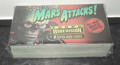1996 Topps Mars Attacks Widevision Si-Fi Movie Complete Card Set 1-72