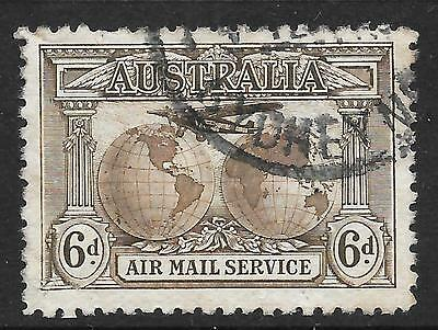 "Australia 1931 6d Sepia ""Kingsford Smith"" Air Stamp SG 139"