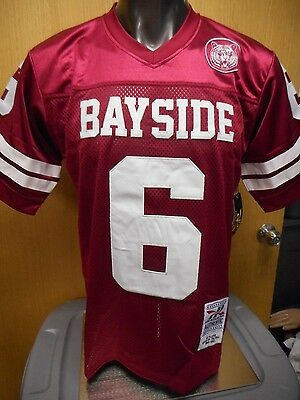Mens Licensed Headgear Bayside Tigers AC Slater Screech Football Jersey NWT L