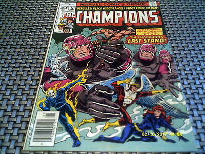 THE CHAMPIONS #17 Final Issue Ghost Rider-Sentinels FN 6.0
