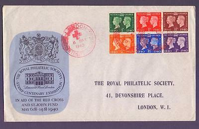 GB 1940 SG479-84 KGVI Centenary Set on RPC First Day Cover FDC 06.05.40