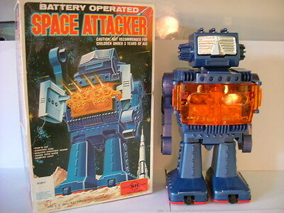 Vintage 1970S Horikawa Space Attacker Fully Working Batter Op Made In Japan