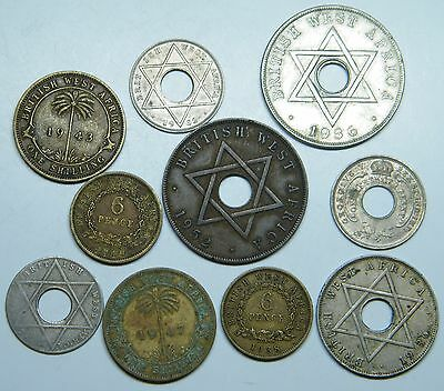 WCA British West Africa Coins 1926 - 1952 Lot # D5