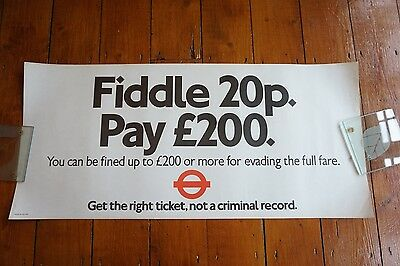 1983 Fiddle 20p Bus Interior Poster London Transport Routemaster