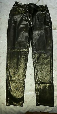 Girls shiny trousers size 9 years by Matalan