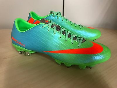 Nike Mercurial Veloce SG Performance Football Boots Uk 8 Green rrp £100