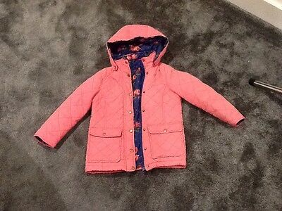 kids/girls winter quilted coat,bright pink,by evenue kids 5/6,vgc,