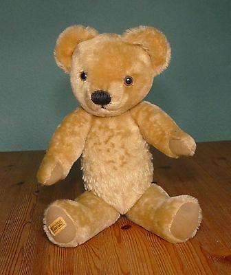 "Vintage Jointed Merrythought 18"" Teddy Bear with Growler"