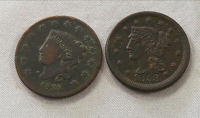 Large cents 1832 and 1853 - free shipping