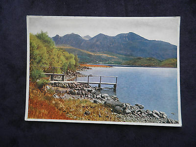 Vintage Medici Society Scottish Postcard Of Loch Assynt And Quinag By K. Leech