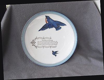 Old Le Mars IA General Store Advertising Plate Painted Bluebirds