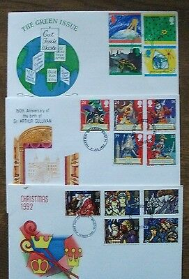 GB three First Day Covers from 1992