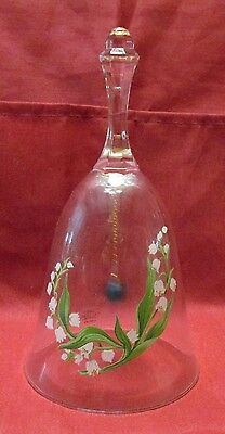 Avon Lead Crystal  Glass Lily Of The Valley Bell   # Pr-224