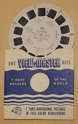 VIEW MASTER  PICTURE REEL 291 California Wild Flowers
