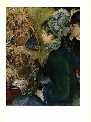 """1960 Vintage RENOIR /""""GIRL READING/"""" LOVELY COLOR offset Lithograph"""