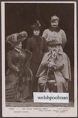 Lovely Antique The Emperor & Empress Of Germany King Edward Queen Alexandra