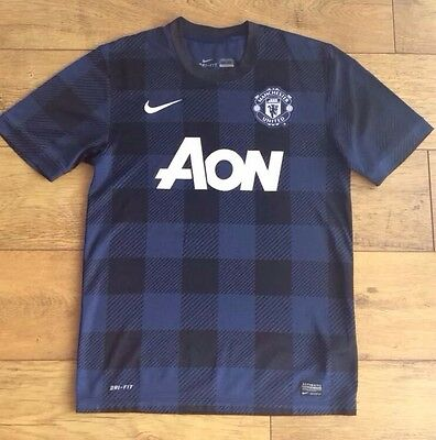 Manchester United Away Nike Football Top Season 2013 Size S