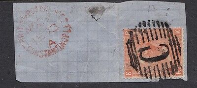 GB used abroad in CONSTANTINOPLE BRITISH LEVANT C 4d plate 13 on dated piece