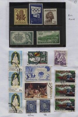 Australia MNH / Used Collection on 6 Small Pages - CV $135