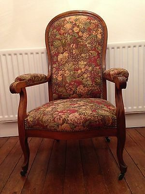 French Style Gents Armchair Antique Chair On Castors Louis