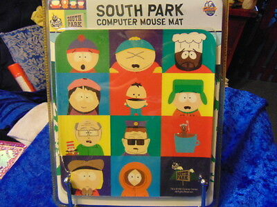 South Park Mouse Mat New & Packaged Very Colourful All the Characters 12 from