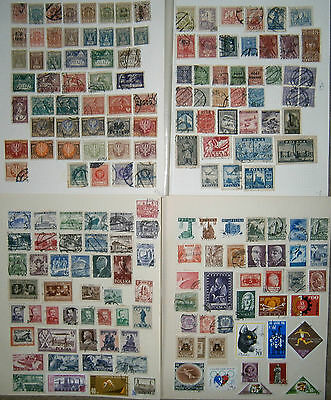 POLAND COLLECTION POLISH STAMPS . 1918 to c.1964 . Over 165 stamps . 4 pages.