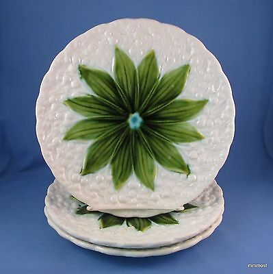 Antique Schramberg Germany Majolica Lily of the Valley Plates Set of 3