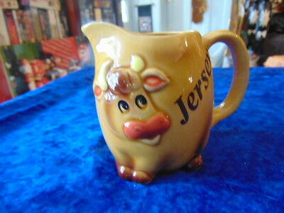 Jersey Cow Jug Very Nice Piece Lovely Face in 3D Feet on the Base.