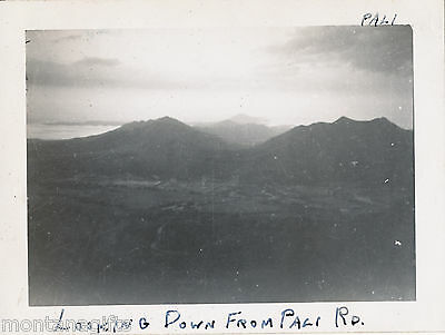 1945  looking down from Pali Road,  Hawaii Photo