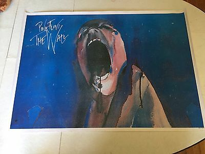 Vintage Pink Floyd The Wall Poster Made In England 24x33... Rare ..!